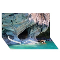 Marble Caves 2 Twin Heart Bottom 3d Greeting Card (8x4)  by trendistuff