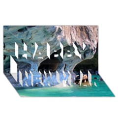 Marble Caves 2 Happy New Year 3d Greeting Card (8x4)  by trendistuff