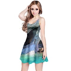 Marble Caves 2 Reversible Sleeveless Dresses by trendistuff
