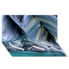 Marble Caves 1 Twin Heart Bottom 3d Greeting Card (8x4)  by trendistuff