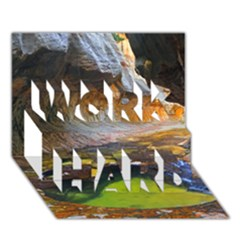 Left Fork Creek Work Hard 3d Greeting Card (7x5)  by trendistuff