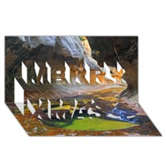 Left Fork Creek Merry Xmas 3d Greeting Card (8x4)