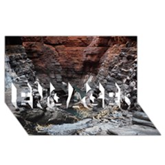 Karijini Canyon Engaged 3d Greeting Card (8x4)  by trendistuff