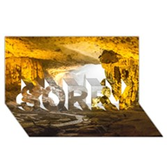Ha Long Bay Sorry 3d Greeting Card (8x4)  by trendistuff