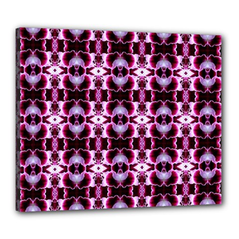 Purple White Flower Abstract Pattern Canvas 24  X 20  by Costasonlineshop