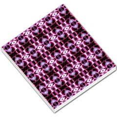 Purple White Flower Abstract Pattern Small Memo Pads