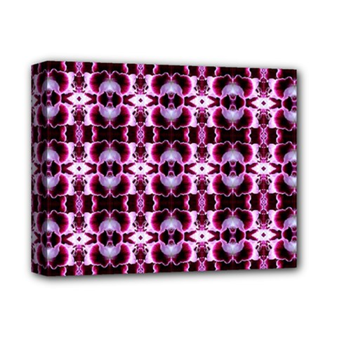 Purple White Flower Abstract Pattern Deluxe Canvas 14  X 11  by Costasonlineshop
