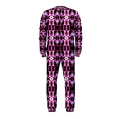 Purple White Flower Abstract Pattern Onepiece Jumpsuit (kids) by Costasonlineshop