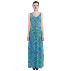 Mermaid Scales  Full Print Maxi Dress