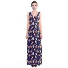 Back In Time Full Print Maxi Dress by Ellador