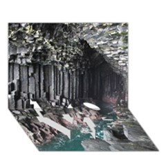 Fingals Cave Love Bottom 3d Greeting Card (7x5)  by trendistuff
