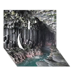 Fingals Cave Apple 3d Greeting Card (7x5)  by trendistuff