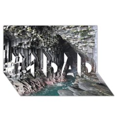 Fingals Cave #1 Dad 3d Greeting Card (8x4)  by trendistuff
