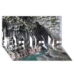 Fingals Cave Believe 3d Greeting Card (8x4)  by trendistuff