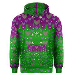 The Brightest Sparkling Stars Is Love Men s Pullover Hoodie by pepitasart