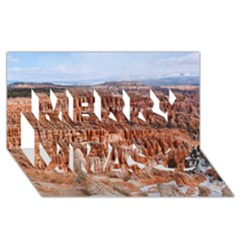 Bryce Canyon Amp Merry Xmas 3d Greeting Card (8x4)