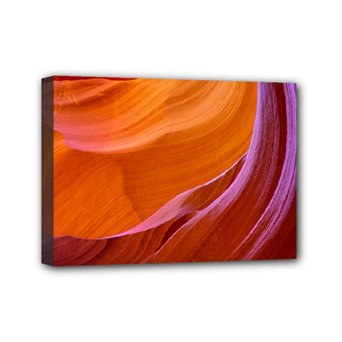 Antelope Canyon 2m Mini Canvas 7  X 5  by trendistuff