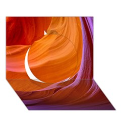 Antelope Canyon 2m Circle 3d Greeting Card (7x5)  by trendistuff