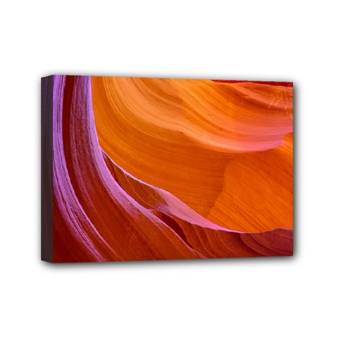 Antelope Canyon 2 Mini Canvas 7  X 5  by trendistuff