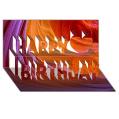 Antelope Canyon 2 Happy Birthday 3d Greeting Card (8x4)