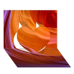 Antelope Canyon 2 Heart 3d Greeting Card (7x5)
