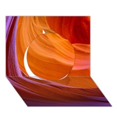 Antelope Canyon 2 Circle 3d Greeting Card (7x5)  by trendistuff