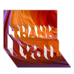 Antelope Canyon 2 Thank You 3d Greeting Card (7x5)  by trendistuff