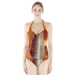 Antelope Canyon 1 Women s Halter One Piece Swimsuit by trendistuff