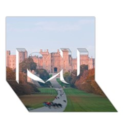 Windsor Castle I Love You 3d Greeting Card (7x5)  by trendistuff