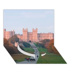 Windsor Castle Circle Bottom 3d Greeting Card (7x5)  by trendistuff