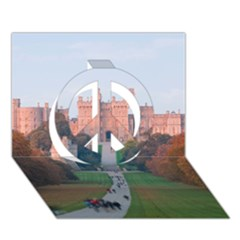 Windsor Castle Peace Sign 3d Greeting Card (7x5)