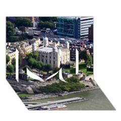 Tower Of London 1 I Love You 3d Greeting Card (7x5)  by trendistuff