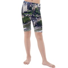 Tower Of London 1 Kid s Mid Length Swim Shorts by trendistuff
