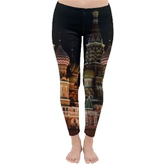 St Basil s Cathedral Winter Leggings  by trendistuff