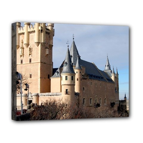 Segovia Castle Deluxe Canvas 20  X 16   by trendistuff