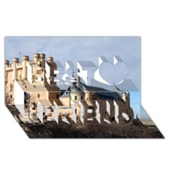 Segovia Castle Best Friends 3d Greeting Card (8x4)