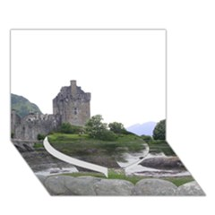 Scotland Eilean Donan Heart Bottom 3d Greeting Card (7x5)  by trendistuff