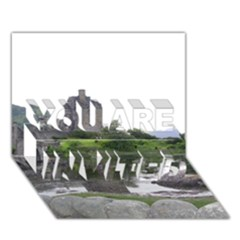 Scotland Eilean Donan You Are Invited 3d Greeting Card (7x5)
