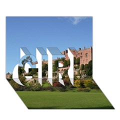 Powis Castle Terraces Girl 3d Greeting Card (7x5)  by trendistuff