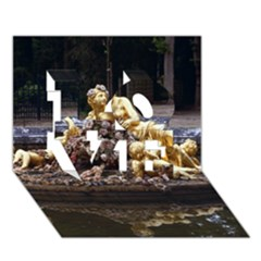 Palace Of Versailles 3 Love 3d Greeting Card (7x5)  by trendistuff
