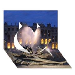 Palace Of Versailles 2 Heart 3d Greeting Card (7x5)  by trendistuff