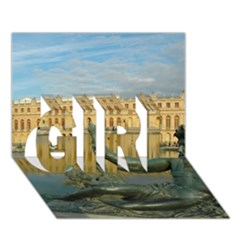 Palace Of Versailles 1 Girl 3d Greeting Card (7x5)  by trendistuff