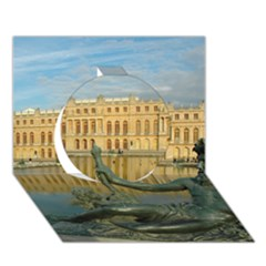 Palace Of Versailles 1 Circle 3d Greeting Card (7x5)  by trendistuff