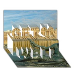 Palace Of Versailles 1 Get Well 3d Greeting Card (7x5)