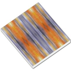 Gray Orange Stripes Painting Small Memo Pads by Costasonlineshop