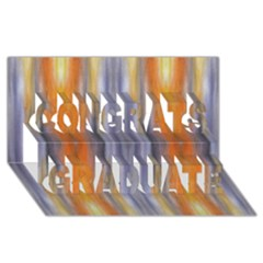 Gray Orange Stripes Painting Congrats Graduate 3d Greeting Card (8x4)  by Costasonlineshop