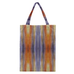 Gray Orange Stripes Painting Classic Tote Bags by Costasonlineshop