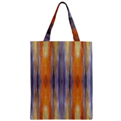 Gray Orange Stripes Painting Zipper Classic Tote Bags
