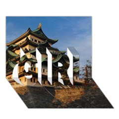 Nagoya Castle Girl 3d Greeting Card (7x5)  by trendistuff