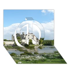 Leeds Castle Peace Sign 3d Greeting Card (7x5)  by trendistuff